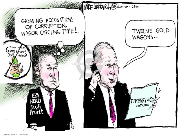 Cartoonist Mike Luckovich  Mike Luckovich's Editorial Cartoons 2018-04-24 accusation