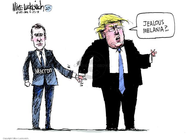 Cartoonist Mike Luckovich  Mike Luckovich's Editorial Cartoons 2018-04-25 Melania Trump