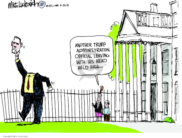 Cartoonist Mike Luckovich  Mike Luckovich's Editorial Cartoons 2018-04-26 nomination