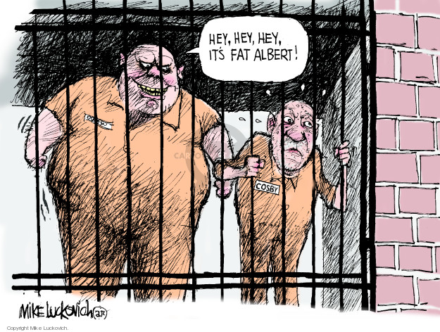Cartoonist Mike Luckovich  Mike Luckovich's Editorial Cartoons 2018-04-27 jail