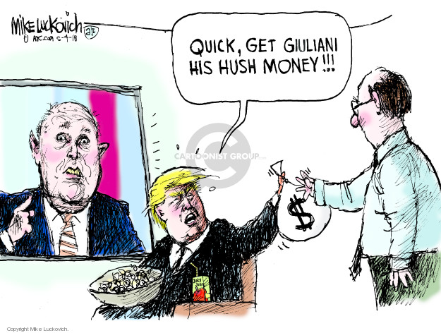 Cartoonist Mike Luckovich  Mike Luckovich's Editorial Cartoons 2018-05-04 legal