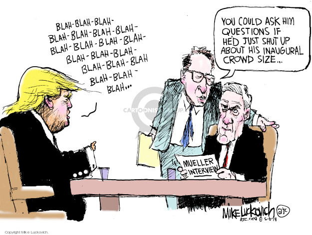 Cartoonist Mike Luckovich  Mike Luckovich's Editorial Cartoons 2018-05-06 counsel