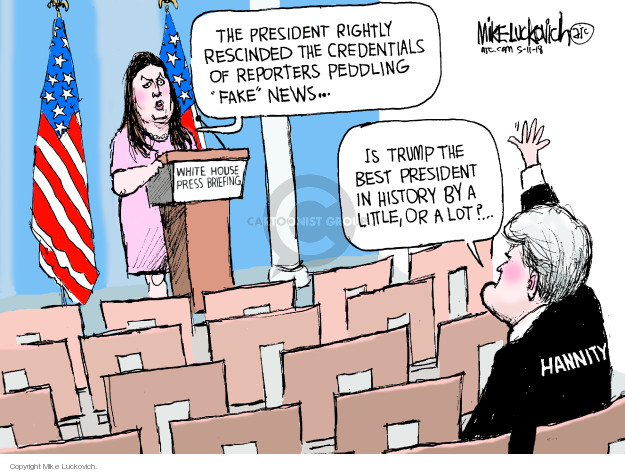 Cartoonist Mike Luckovich  Mike Luckovich's Editorial Cartoons 2018-05-11 Presidency