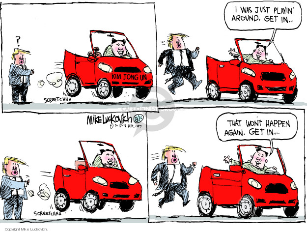 Mike Luckovich  Mike Luckovich's Editorial Cartoons 2018-05-17 negotiation