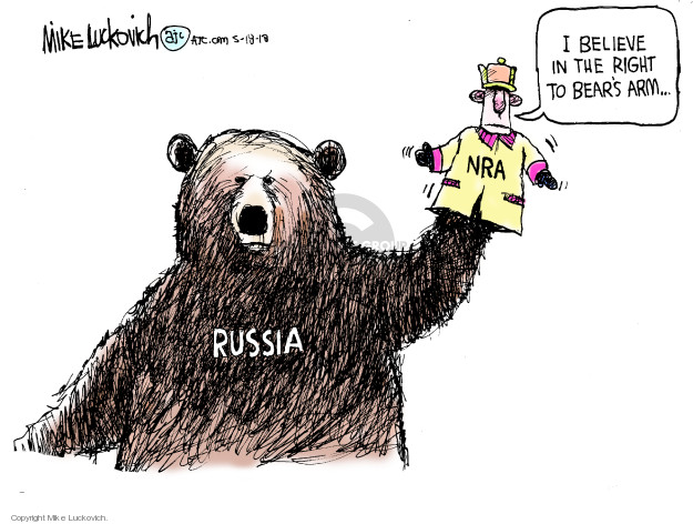 Mike Luckovich  Mike Luckovich's Editorial Cartoons 2018-05-18 2016 Election Russian Interference