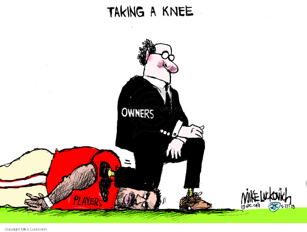 Mike Luckovich  Mike Luckovich's Editorial Cartoons 2018-05-27 NFL
