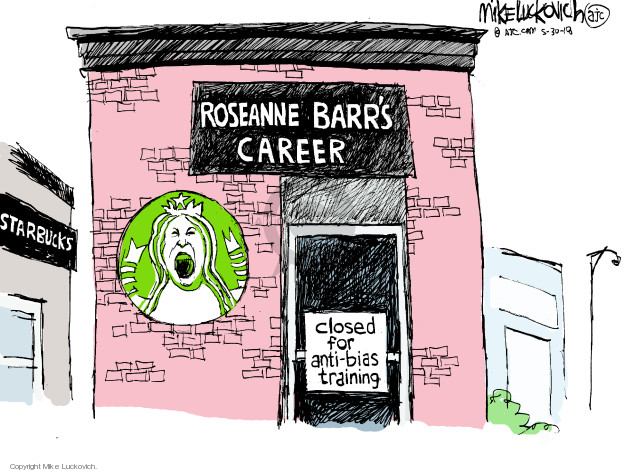 Cartoonist Mike Luckovich  Mike Luckovich's Editorial Cartoons 2018-05-30 show