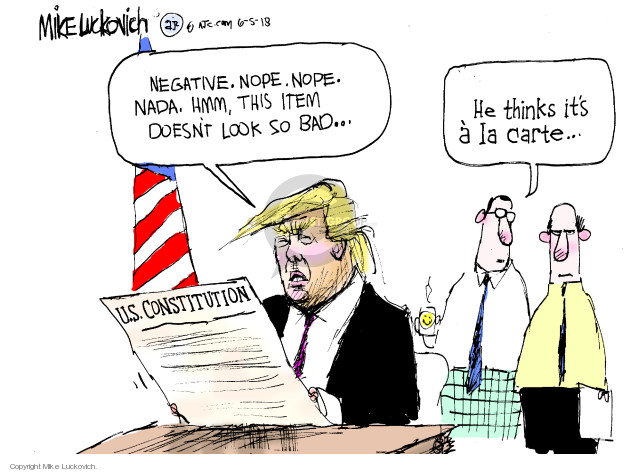 Cartoonist Mike Luckovich  Mike Luckovich's Editorial Cartoons 2018-06-05 Constitution