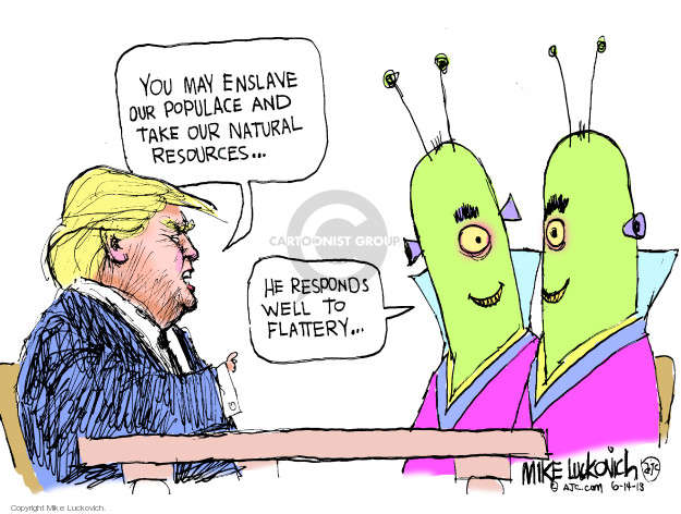 Mike Luckovich  Mike Luckovich's Editorial Cartoons 2018-06-14 negotiation