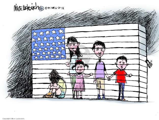 Mike Luckovich  Mike Luckovich's Editorial Cartoons 2018-06-20 migrant