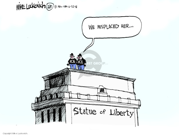 We misplaced her … Statue of Liberty.