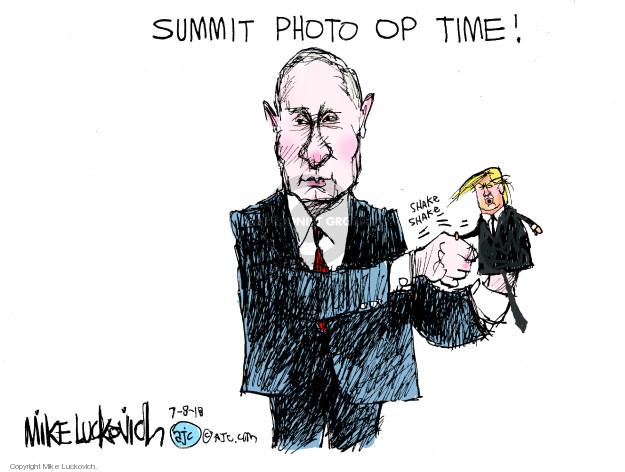 Cartoonist Mike Luckovich  Mike Luckovich's Editorial Cartoons 2018-07-08 president