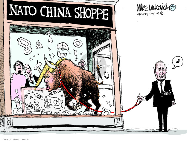 Mike Luckovich  Mike Luckovich's Editorial Cartoons 2018-07-12 Vladimir Putin