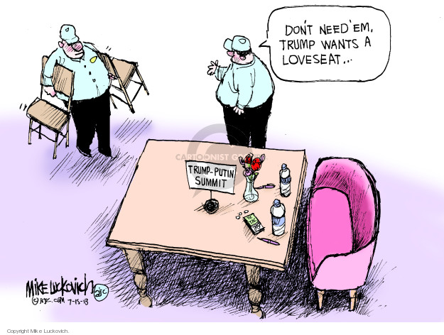 Mike Luckovich  Mike Luckovich's Editorial Cartoons 2018-07-15 president