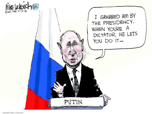 Mike Luckovich  Mike Luckovich's Editorial Cartoons 2018-07-17 Donald Trump Vladimir Putin