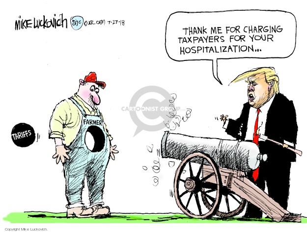 Mike Luckovich  Mike Luckovich's Editorial Cartoons 2018-07-27 Donald Trump farmer