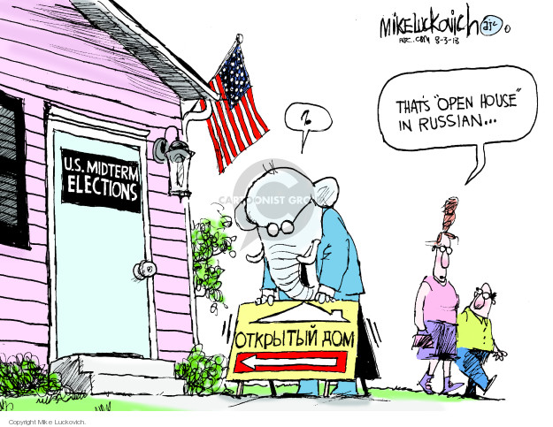 Cartoonist Mike Luckovich  Mike Luckovich's Editorial Cartoons 2018-08-03 interference