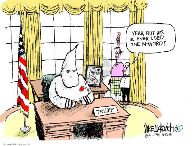 Cartoonist Mike Luckovich  Mike Luckovich's Editorial Cartoons 2018-08-15 editorial staff