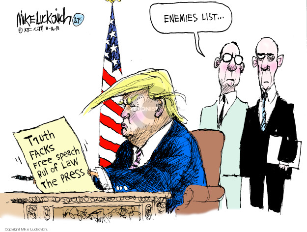 Mike Luckovich  Mike Luckovich's Editorial Cartoons 2018-08-16 freedom of speech