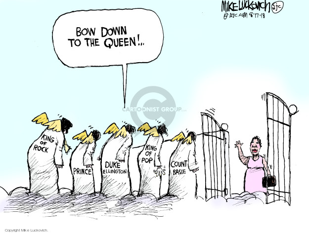 Mike Luckovich  Mike Luckovich's Editorial Cartoons 2018-08-17 death dying