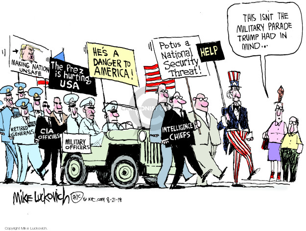Mike Luckovich  Mike Luckovich's Editorial Cartoons 2018-08-21 military parade