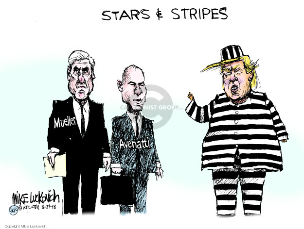 Cartoonist Mike Luckovich  Mike Luckovich's Editorial Cartoons 2018-08-24 collusion