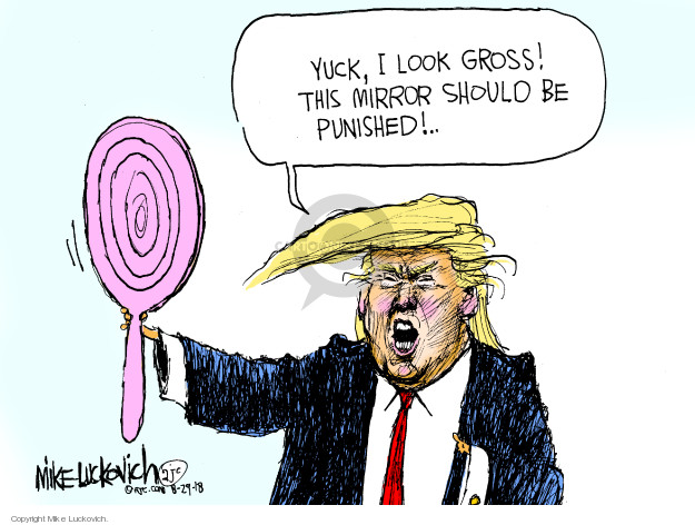Cartoonist Mike Luckovich  Mike Luckovich's Editorial Cartoons 2018-08-29 blame