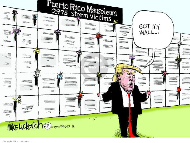 Mike Luckovich  Mike Luckovich's Editorial Cartoons 2018-08-30 hurricane