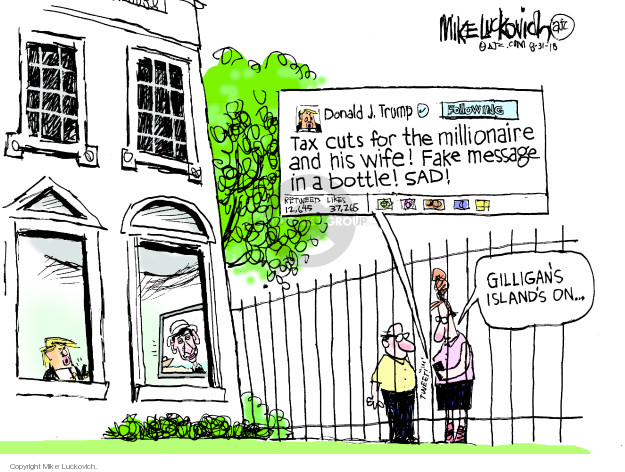 Cartoonist Mike Luckovich  Mike Luckovich's Editorial Cartoons 2018-08-31 tax