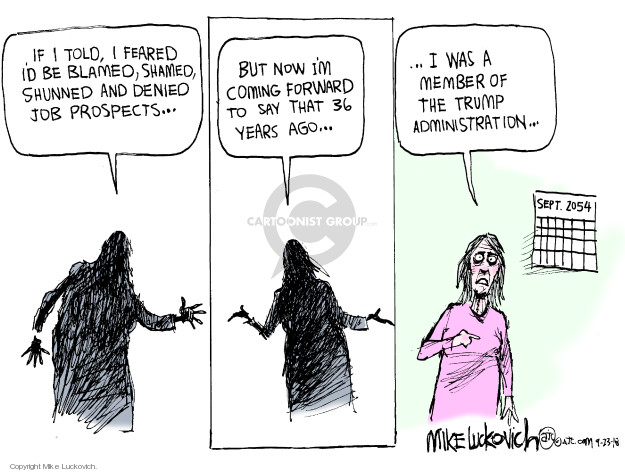 Cartoonist Mike Luckovich  Mike Luckovich's Editorial Cartoons 2018-09-23 affiliation