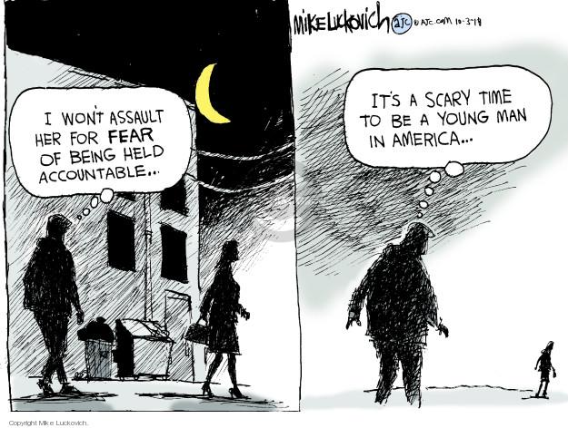 Cartoonist Mike Luckovich  Mike Luckovich's Editorial Cartoons 2018-10-03 assault
