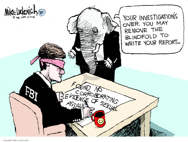 Cartoonist Mike Luckovich  Mike Luckovich's Editorial Cartoons 2018-10-05 accusation