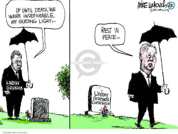 Cartoonist Mike Luckovich  Mike Luckovich's Editorial Cartoons 2018-10-07 accusation