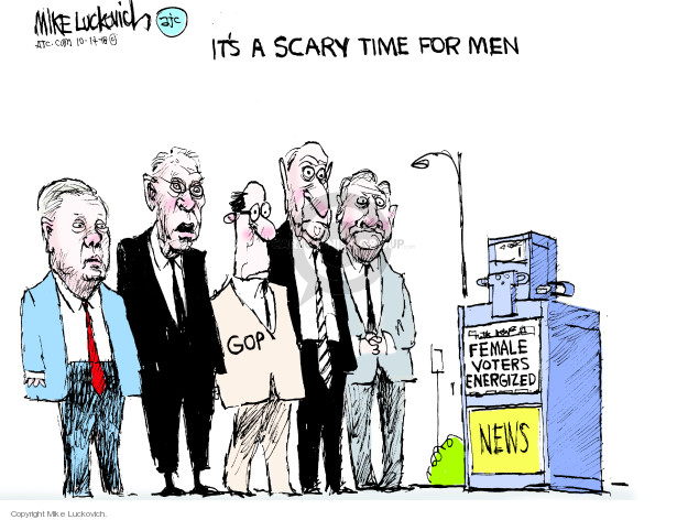 Cartoonist Mike Luckovich  Mike Luckovich's Editorial Cartoons 2018-10-14 voter
