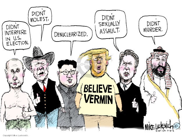 Cartoonist Mike Luckovich  Mike Luckovich's Editorial Cartoons 2018-10-18 sexually