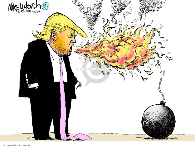 Cartoonist Mike Luckovich  Mike Luckovich's Editorial Cartoons 2018-10-25 light