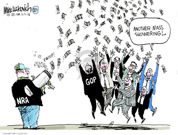 NRA. Fwoop! GOP. Another mass showering!