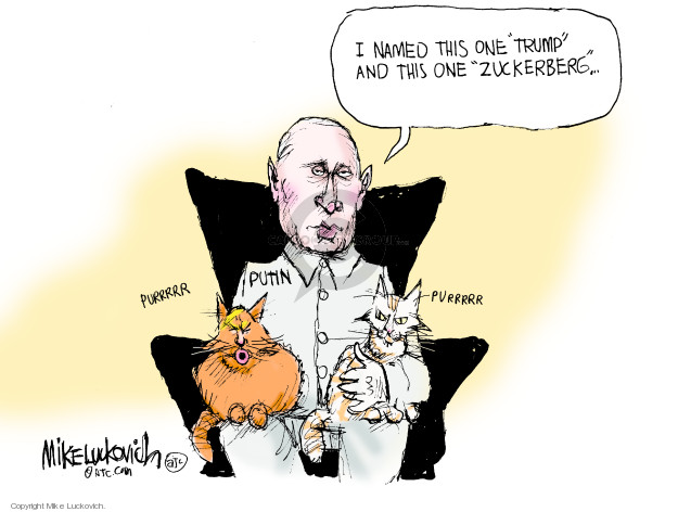 Cartoonist Mike Luckovich  Mike Luckovich's Editorial Cartoons 2018-11-18 collusion