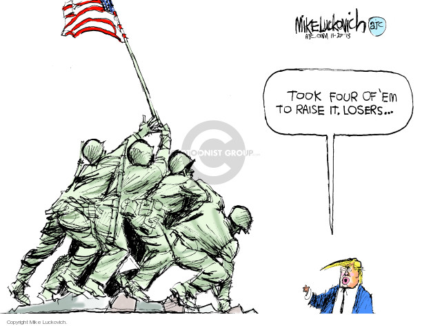 Cartoonist Mike Luckovich  Mike Luckovich's Editorial Cartoons 2018-11-20 armed forces