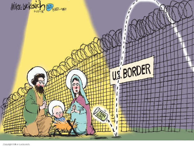 Mike Luckovich  Mike Luckovich's Editorial Cartoons 2018-11-27 Trump Immigration