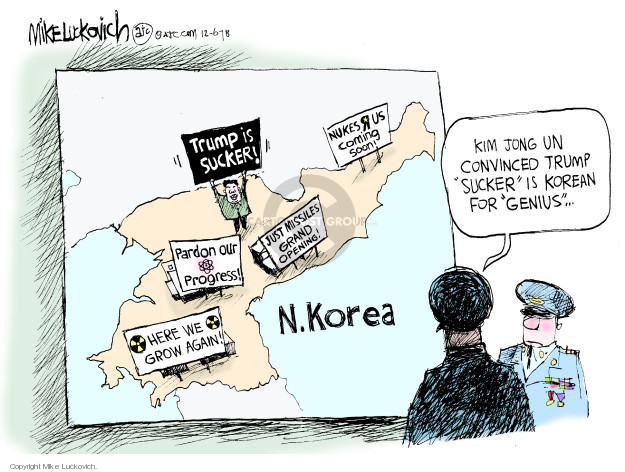 Cartoonist Mike Luckovich  Mike Luckovich's Editorial Cartoons 2018-12-06 nuclear