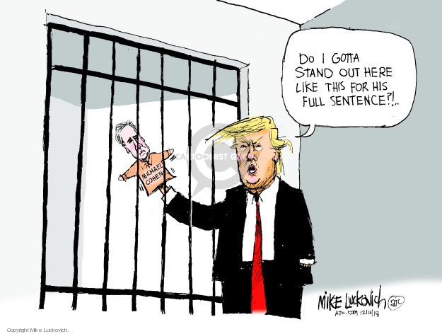 Cartoonist Mike Luckovich  Mike Luckovich's Editorial Cartoons 2018-12-13 jail