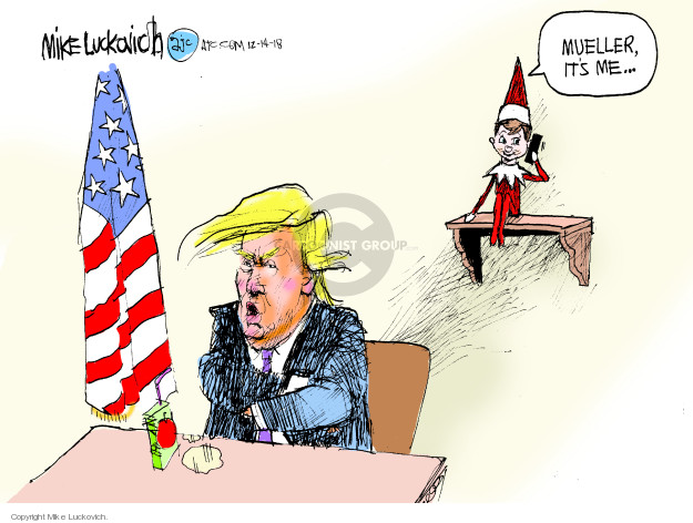 Cartoonist Mike Luckovich  Mike Luckovich's Editorial Cartoons 2018-12-14 probe