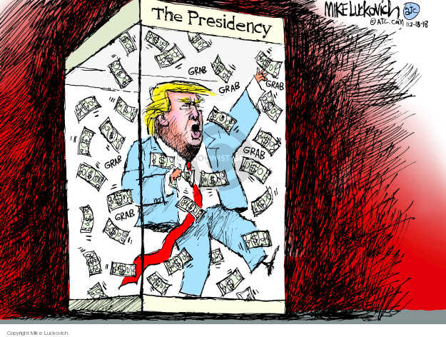 Cartoonist Mike Luckovich  Mike Luckovich's Editorial Cartoons 2018-12-18 family
