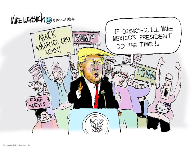 Cartoonist Mike Luckovich  Mike Luckovich's Editorial Cartoons 2018-12-20 wall
