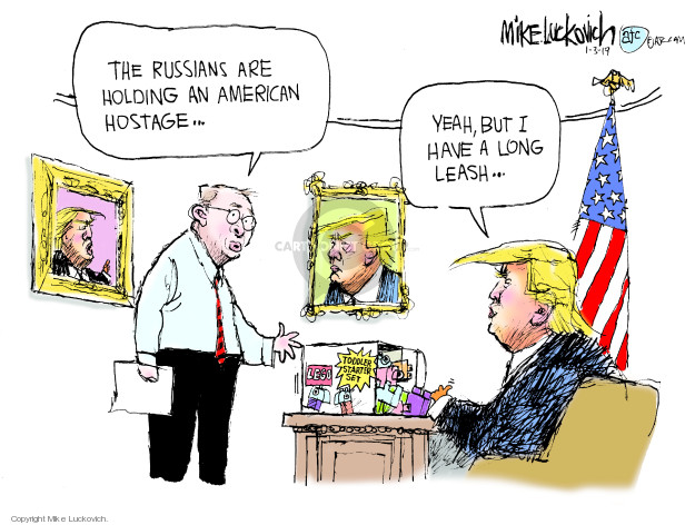 Cartoonist Mike Luckovich  Mike Luckovich's Editorial Cartoons 2019-01-03 accusation