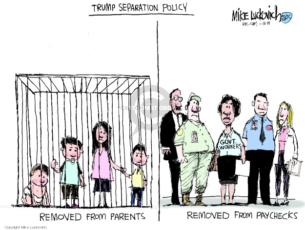 Mike Luckovich  Mike Luckovich's Editorial Cartoons 2019-01-13 Trump Immigration