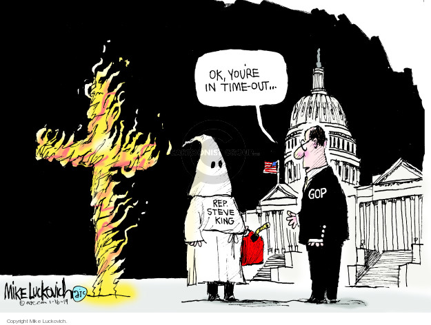 Mike Luckovich  Mike Luckovich's Editorial Cartoons 2019-01-16 discrimination