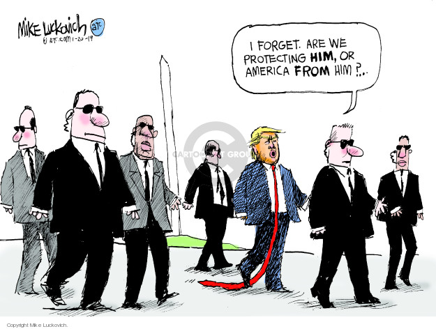 Cartoonist Mike Luckovich  Mike Luckovich's Editorial Cartoons 2019-01-20 Trump administration