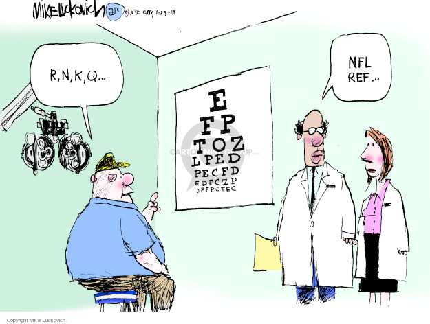 Mike Luckovich  Mike Luckovich's Editorial Cartoons 2019-01-23 NFL